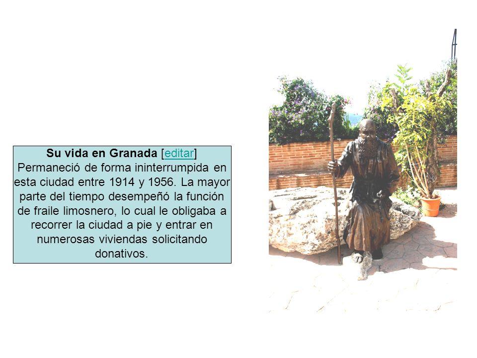 Su vida en Granada [editar]